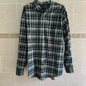 St. John's Bay plaid button up shirt easy care